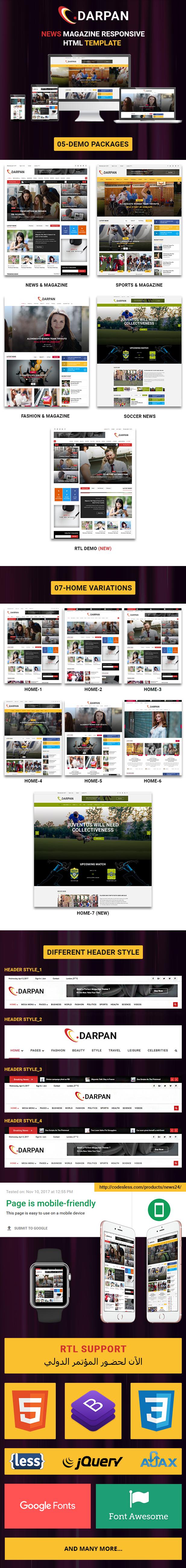 News 24 - News Magazine Responsive HTML Template