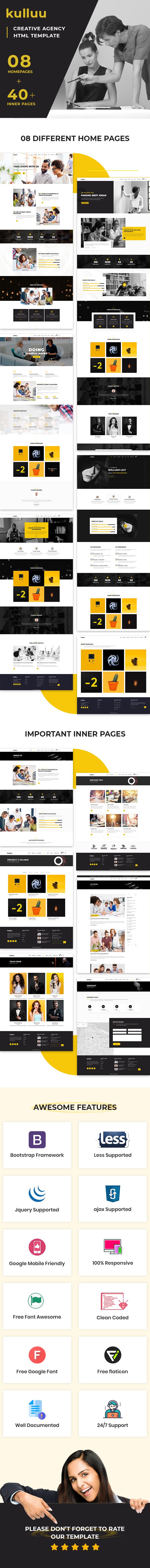 Kulluu - Creative Agency Responsive HTML Template