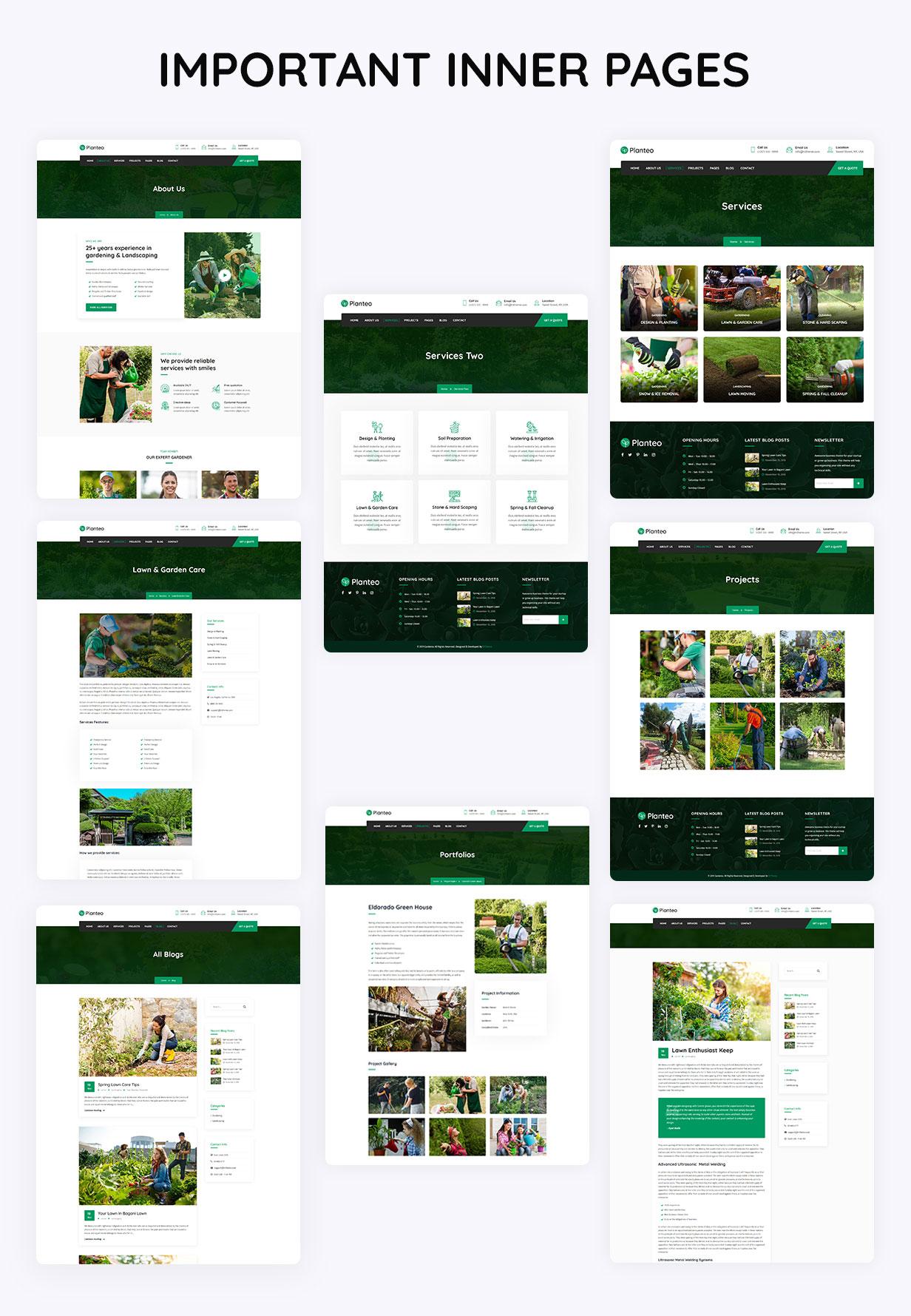 Planteo-Gardening and Landscaping WordPress Theme