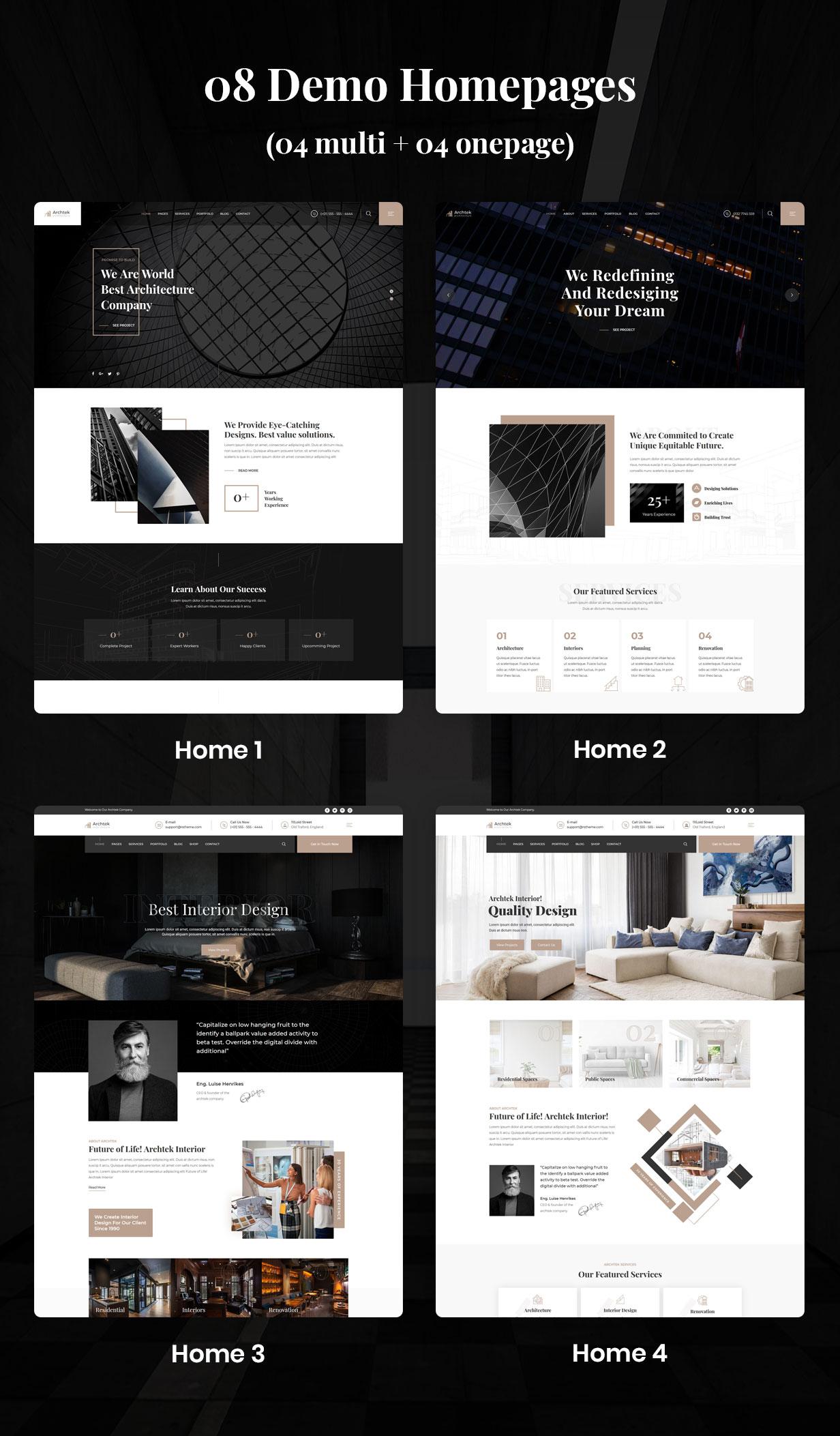 Archtek-Architecture Interior Design WordPress Theme