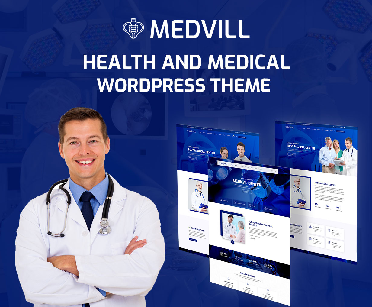 Medvill - Health & Medical WordPress Theme - 3