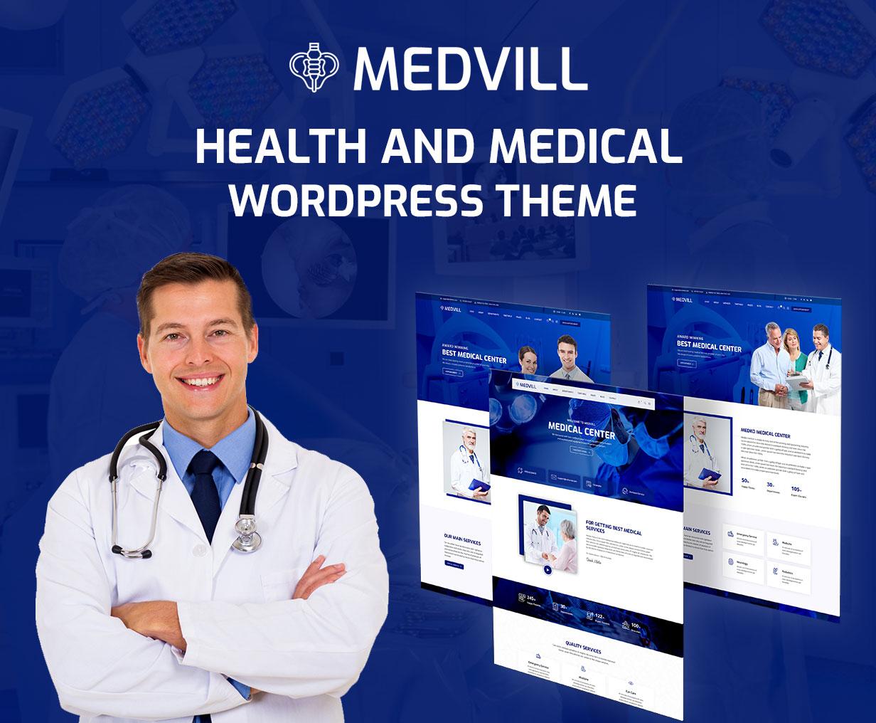 Medvill - Health & Medical WordPress Theme - 4