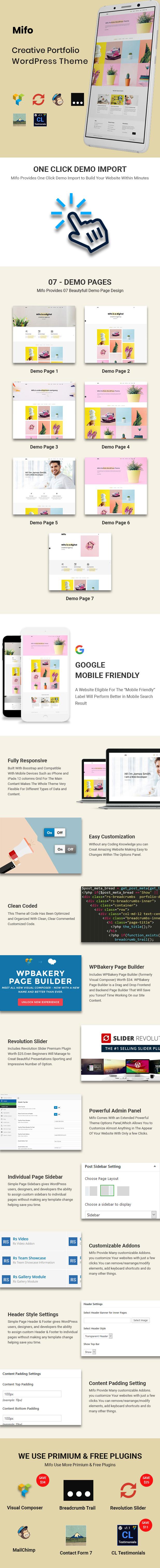 Mifo - Creative Portfolio WordPress Theme