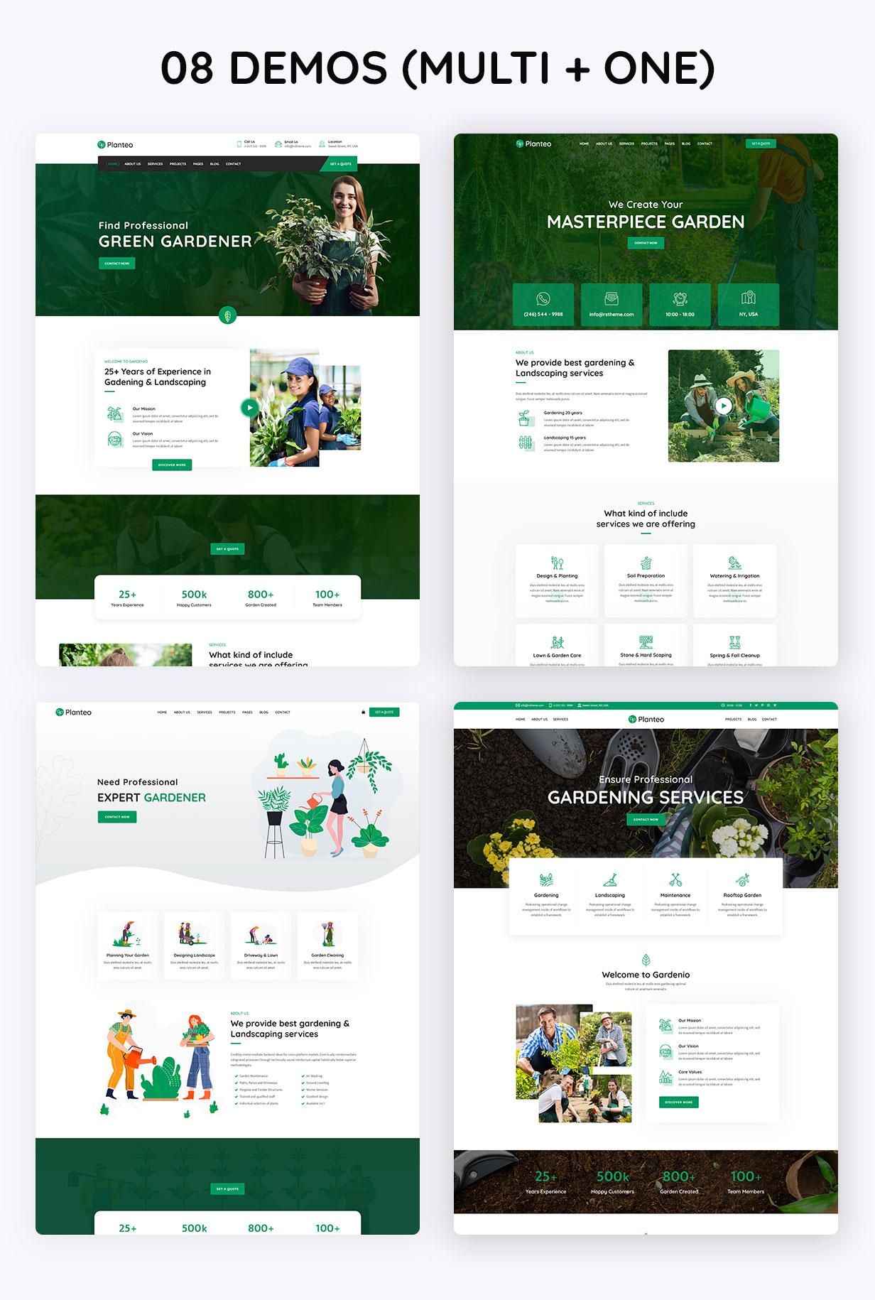 Planteo - Gardening & Landscaping WordPress Theme