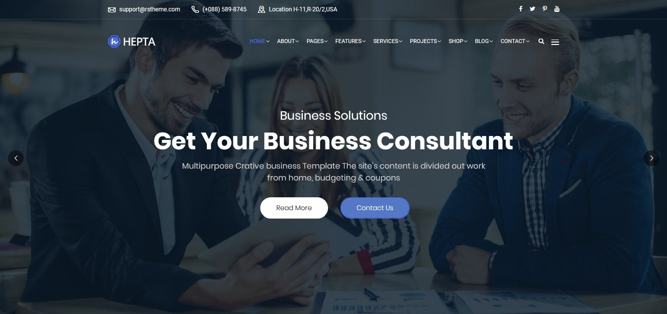 RS Theme - Hepta Wordpress Business Theme