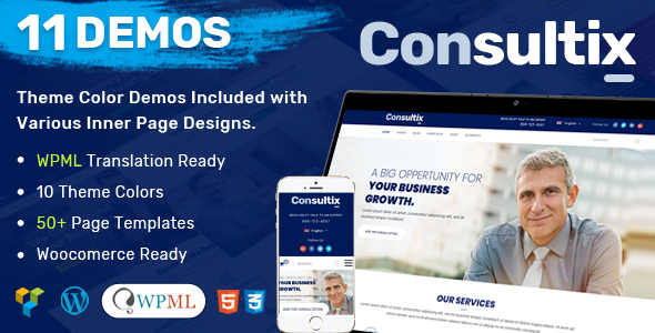 6 best wordpress business template rs theme consultix is an extremely potent and 100 mobile responsive corporate consulting business and financial services wordpress theme that is packed with lots flashek