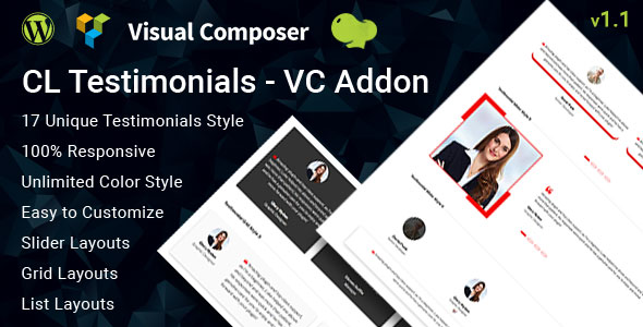 CL Testimonial – Testimonials VC Addon