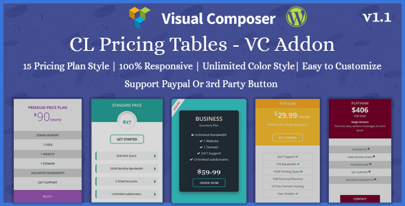 CL Pricing | Pricing Table – VC Addon