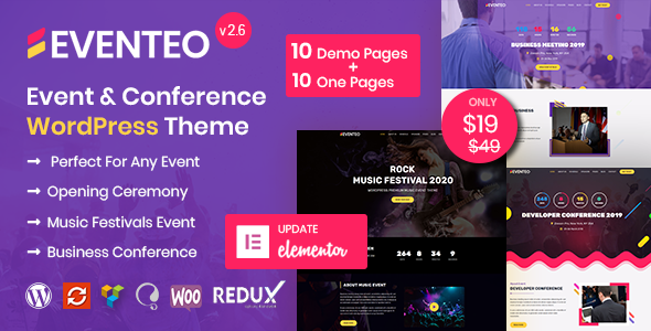 Eventeo – Event & Conference WordPress Theme