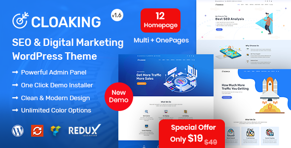 Cloaking – SEO & Digital Marketing Agency Theme