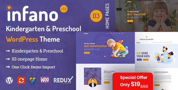 Infano – Kindergarten & Preschool WordPress Theme