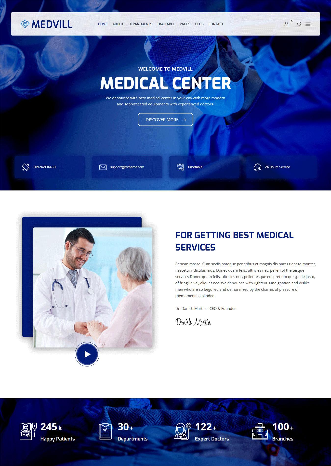 Medvill–Medical-WordPress-Theme