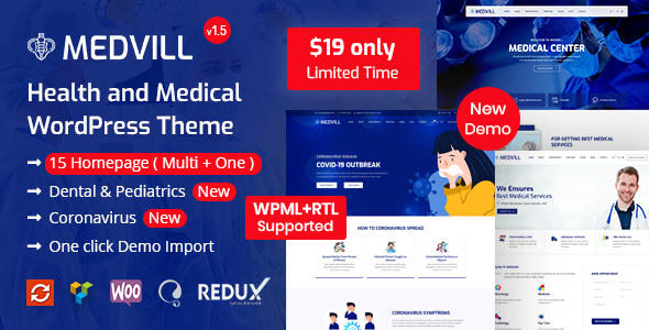 Medvill – Health & Medical WordPress Theme