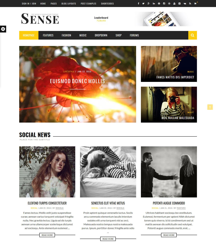 Sense-HomePage