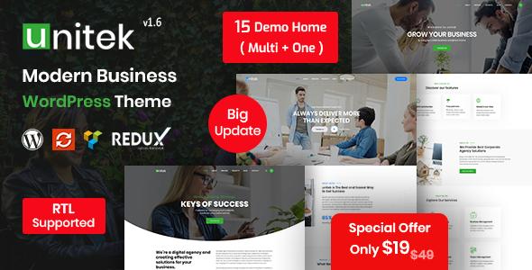 Unitek – Business WordPress Theme