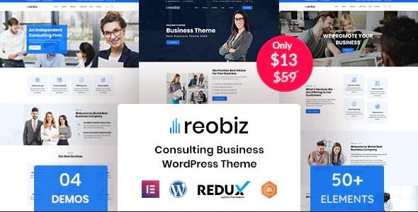 Reobiz – Consulting Business WordPress Theme