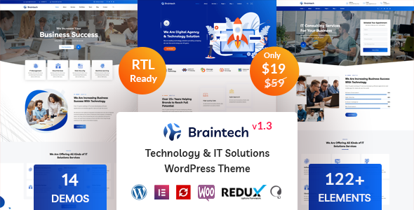 Braintech – Technology & IT Solutions WordPress Theme
